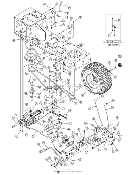 mtd yard machine parts diagram mtd 13an601h729 2006 parts diagram for drive