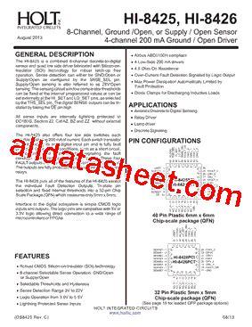 integrated circuits datasheet pdf hi 8425pctf datasheet pdf holt integrated circuits
