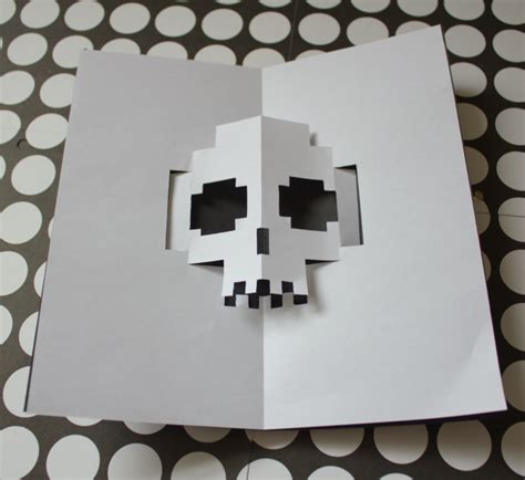 template popup card skull diy pop up card the idea king