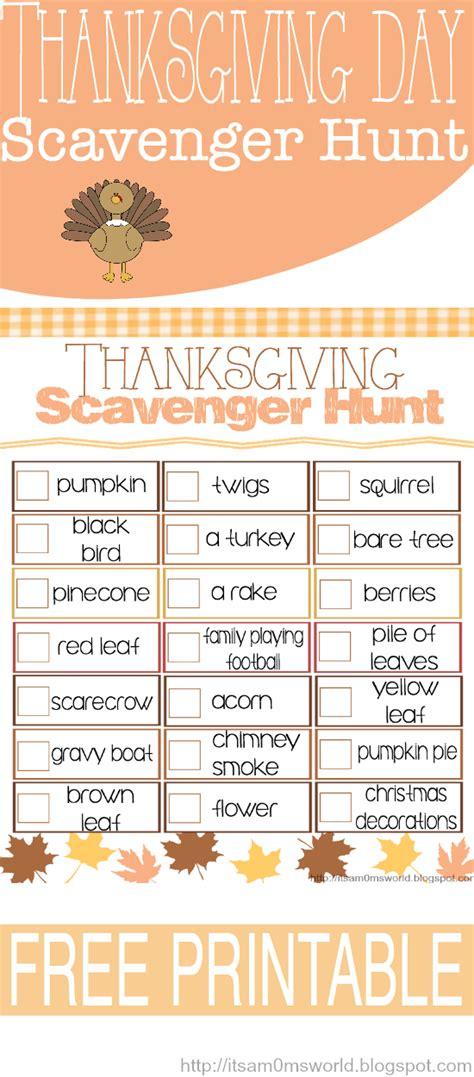 printable turkey hunt it s a mom s world thanksgiving scavenger hunt free