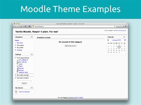 moodle themes exles theming moodle technical