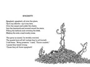 Reminds me of the shel silverstein poem about spaghetti