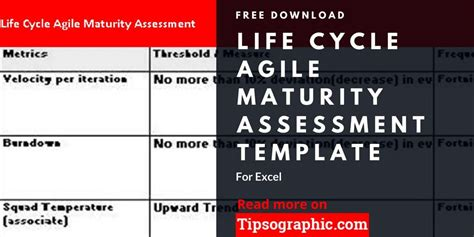 Life Cycle Agile Maturity Assessment Template For Excel Free Download Agile Pinterest Agile Assessment Template