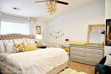 nursery layout with bed suburbs mama nursery in master bedroom
