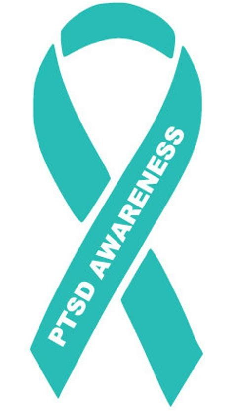 ptsd awareness ribbon color items similar to ptsd awareness decal on etsy