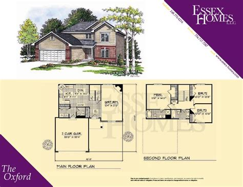 essex homes floor plans oxford essex homes remodeling