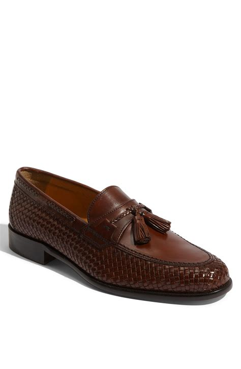 woven loafer johnston murphy vauter woven loafer in brown for