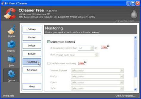 ccleaner active monitoring download ccleaner v4 18 4844 penambahan fitur active