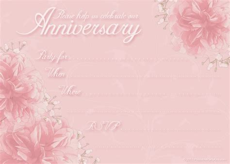 anniversary invitation template free printable invitations free anniversary