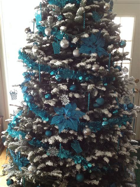 teal and silver christmas tree christmas trees pinterest