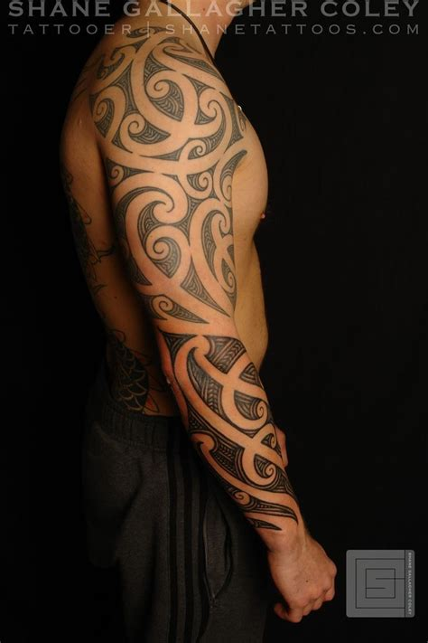 tribal tattoo full arm 657 best polynesian tribal images on arm