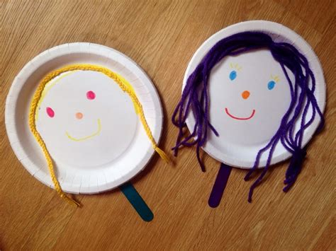 paper plate puppets my kid craft