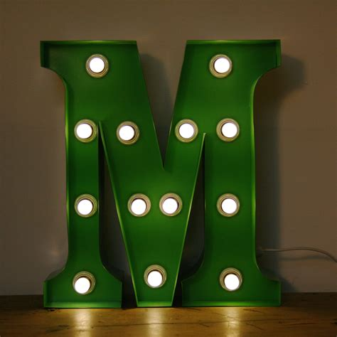 m and m lighting vintage marquee circus light up letter m green the