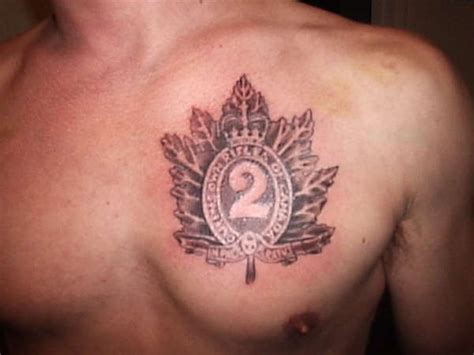 quebec military tattoo canadian military crest tattoo