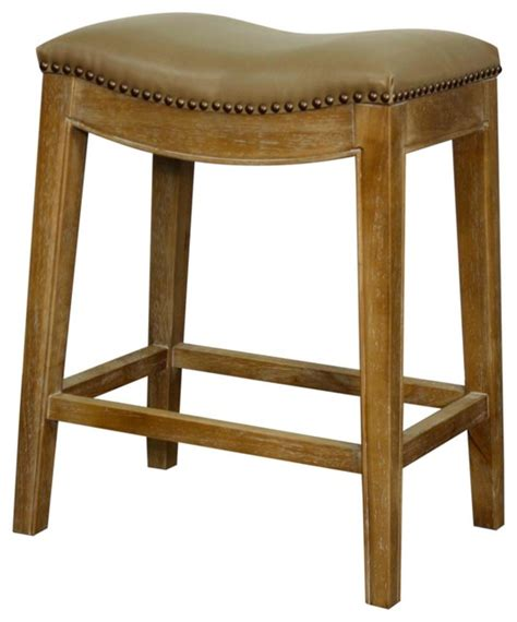 Taupe Leather Bar Stools by Elmo Bonded Leather Counter Stool With Weathered Legs