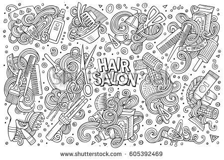 doodle hair vector hair clippers vector stock images royalty free images