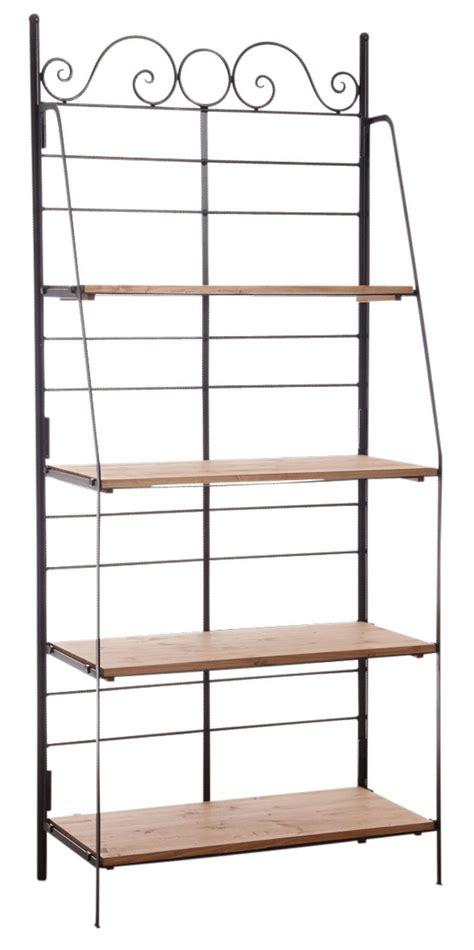 etagere en metal etag 232 re pliante en m 233 tal et bois