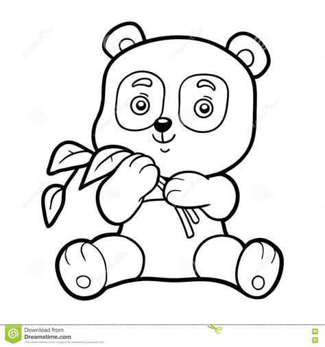 Coloring Book For Children Little Panda Stock Vector Coloring Pages For Children L