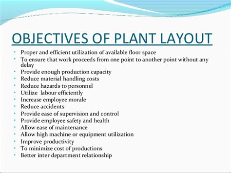 Plant Layout Objectives Ppt | plant layout ppt by me