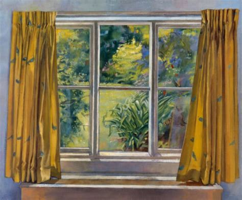 curtain paintings new curtains at marsh farm oil painting by sarah bryant