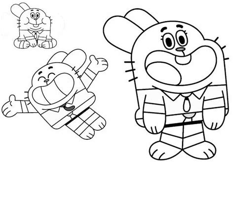 Free Coloring Pages Of Gumball Network Network Colouring Pages