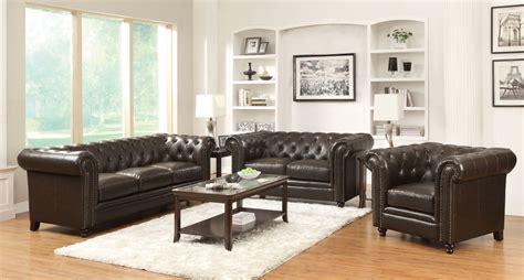 brown living room set roy brown living room set from coaster 504551 2