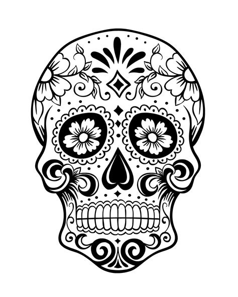 day of the dead skull coloring page 1 because i can