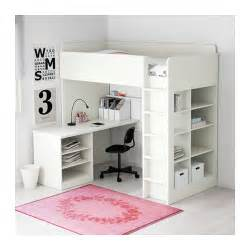 Bunk Bed With Desk Ikea Stuva Loft Bed Combo W 2 Shlvs 3 Shlvs White 207x99x193 Cm Ikea