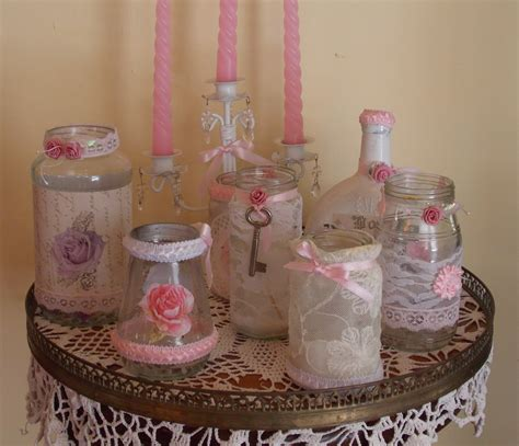 decorar botellas de vidrio vintage frascos y botellas decorados marge7 elo7
