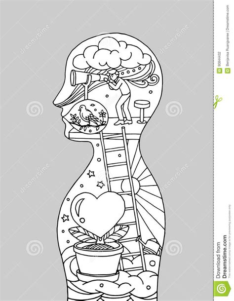 Human Brain And Universe Royalty-Free Stock Image