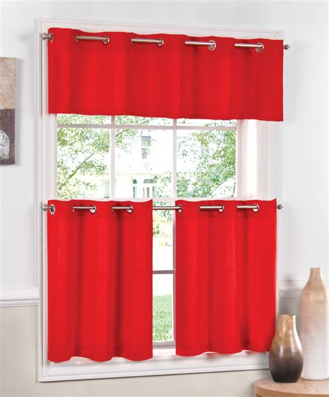 red kitchen curtain jackson kitchen curtains red lorraine cafe tier curtains