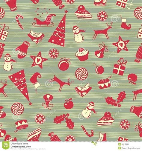 cute christmas pattern christmas seamless pattern stock photo image 35513960