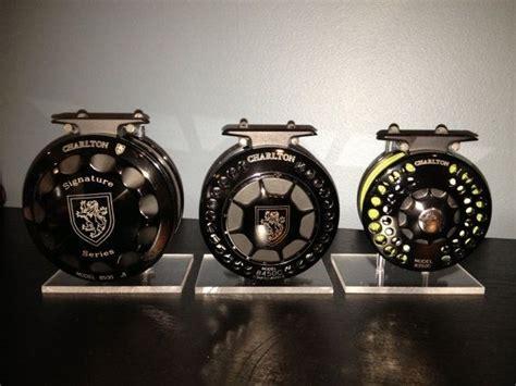 Handmade Fly Reels - custom fly fishing reel display by custom display stands
