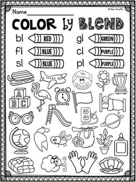 L Blends Coloring Pages by L Blends Worksheets And Activities Activities Phonics