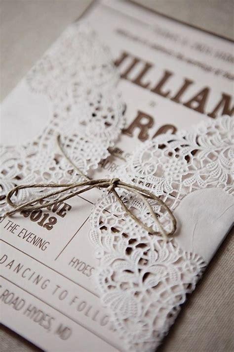 rustic wedding handmade diy lace wedding invitation 1513011 weddbook
