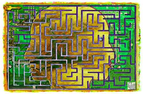 Electronic Labyrinth Board stock illustration profile maze circuit board