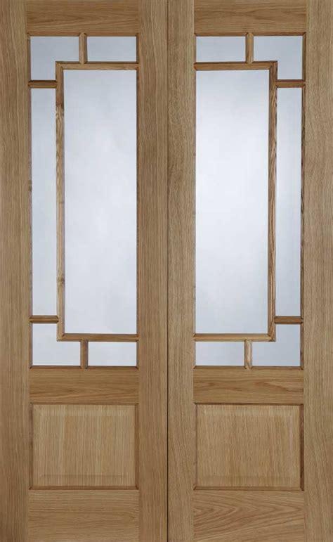 Finished Interior Doors Orient Pre Finished Oak Interior Door Pair