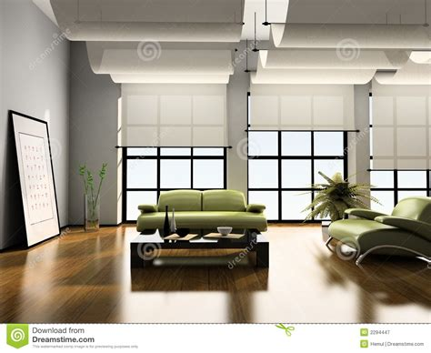 home interior 3d stock image image of picture