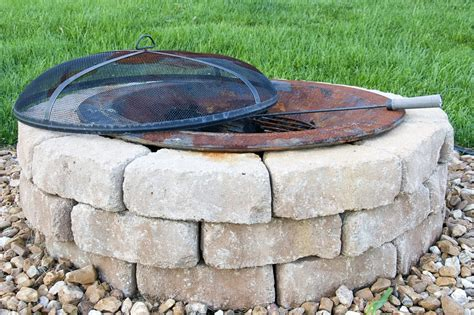 build backyard fire pit how to build an outdoor firepit the polkadot chair