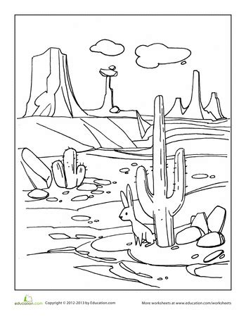 desert coloring pages desert coloring page mp 1st week 3