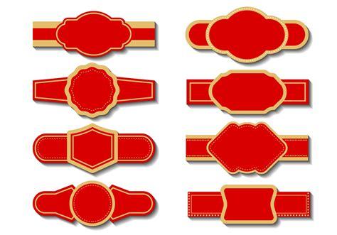 cigar label template vector   vectors