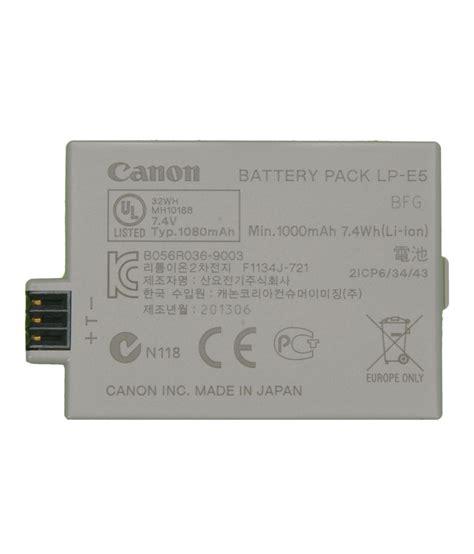 Canon Battery Lp E5 Original canon eos rebel t1i lp e5 original battery price
