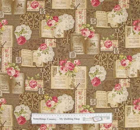 Patchwork And Quilting Fabrics - quilting patchwork sewing fabric roses brown book chic