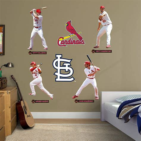 st louis cardinals bedroom decor st louis cardinals power pack fathead wall decal