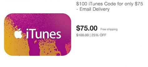 100 Itunes Gift Card For 75 - hot 100 itunes gift card only 75 on ebay email delivery mojosavings com