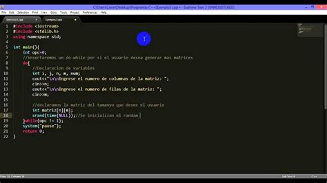 guardar cadenas en python matrices aleatorias en c youtube