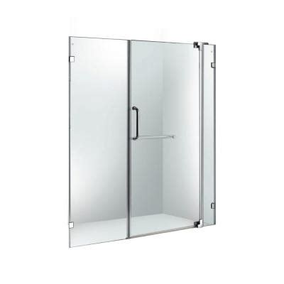 Frameless Pivot Glass Shower Doors Vigo 54 In To 60 In X 74 In Adjustable Frameless Pivot Shower Door In Chrome With Clear Glass