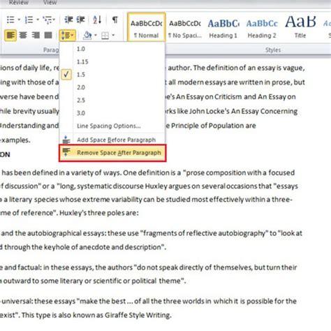 format footnote spacing in word 2010 how to change the line spacing in microsoft word 2010