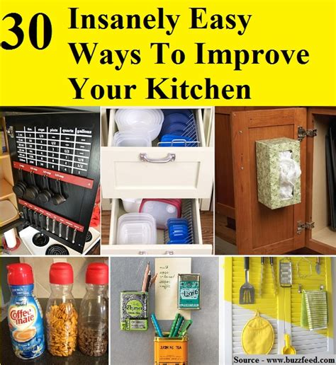 30 insanely easy ways to improve your kitchen home and