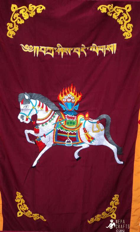 tibetan door curtain dchw windhorse embroidery tibetan buddhist spunsilk door